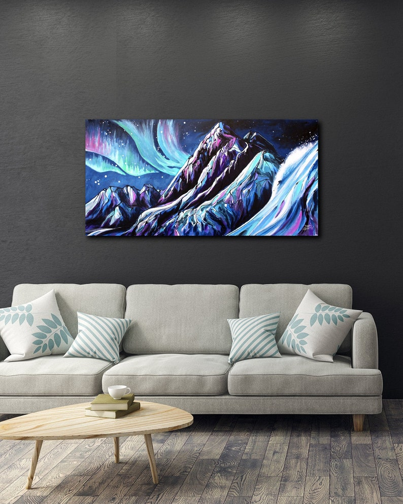 Skier Art Mountain Wall Art Top Selling Home Decor image 0