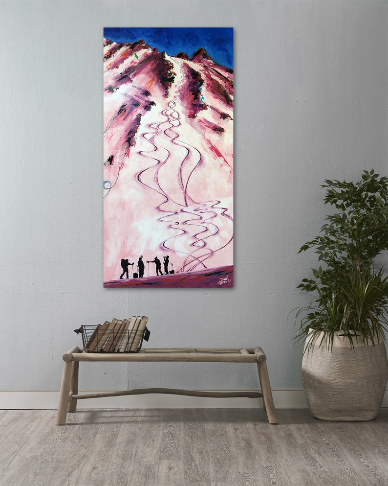 Ski Art Backcountry Mountain Wall Art Top Selling Home image 0