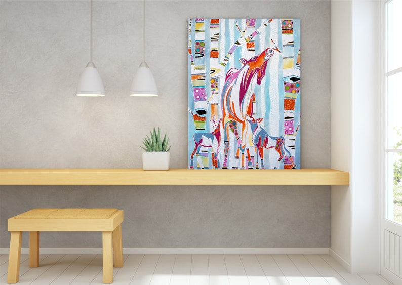 Moose Wildlife Wall Art Top Selling Home Decor Colorful image 0