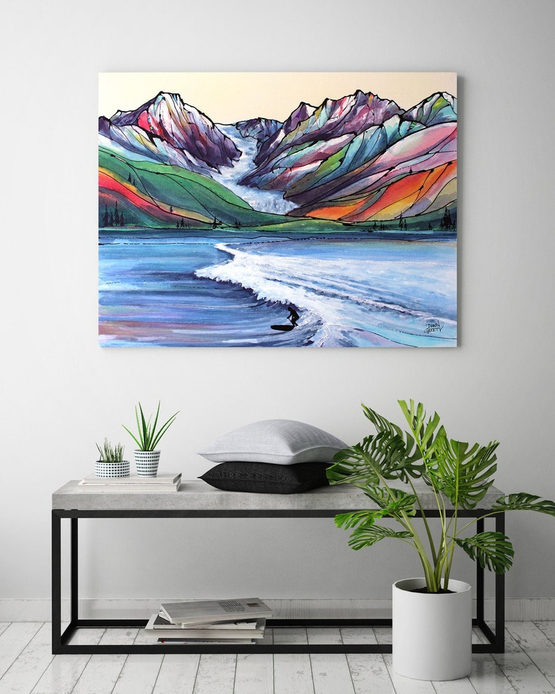 Surfing Wall Art Top Selling Home Decor Colorful Art image 0