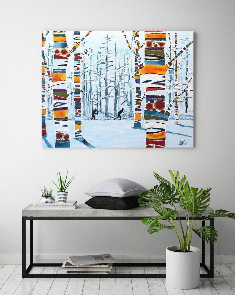 Ski Wall Art Top Selling Home Decor Colorful Art Print image 0