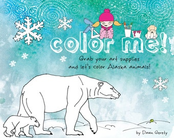 Coloring Book, Fun for Kids, Best Seller, Activity Book, Animal Facts, Coloring Pages, Learning, Jokes, Alaska, All Ages, Gift