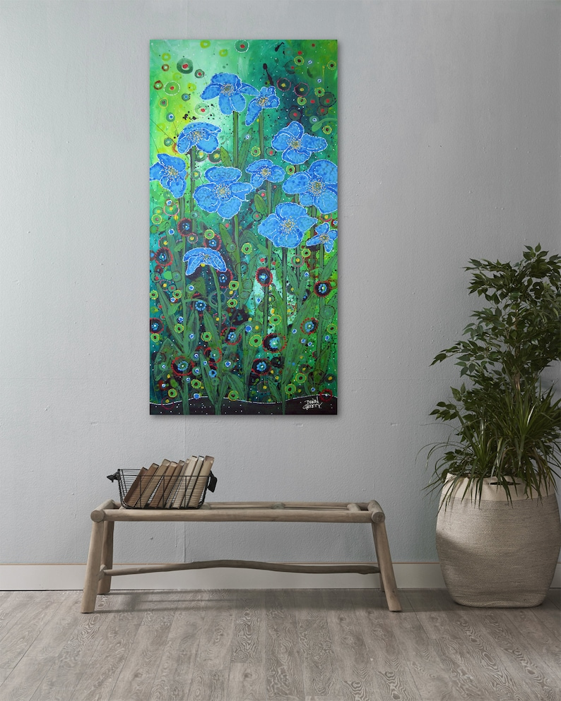 Himalayan Poppies Wall Art Top Selling Home Decor Colorful image 0