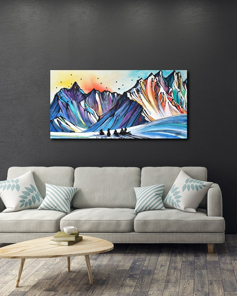 Mountain Wall Art Top Selling Home Decor Colorful Art image 0