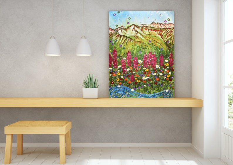 Wildflower Wall Art Top Selling Home Decor Colorful Art image 0