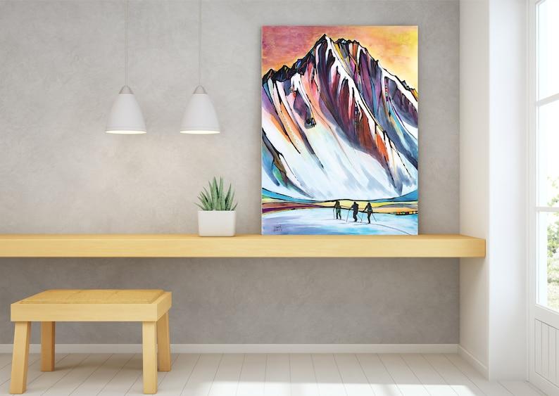 Ski Art Backcountry Mountain Wall Art Top Selling Home image 0