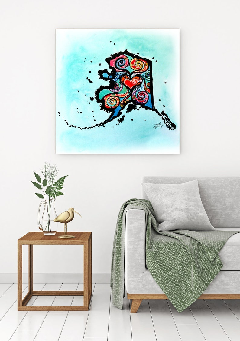Alaska Wall Art Top Selling Home Decor Colorful Art Print image 0