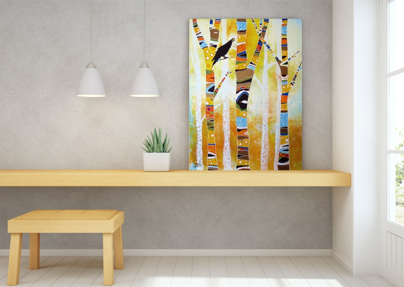 Raven Wildlife Wall Art Top Selling Home Decor Colorful image 1