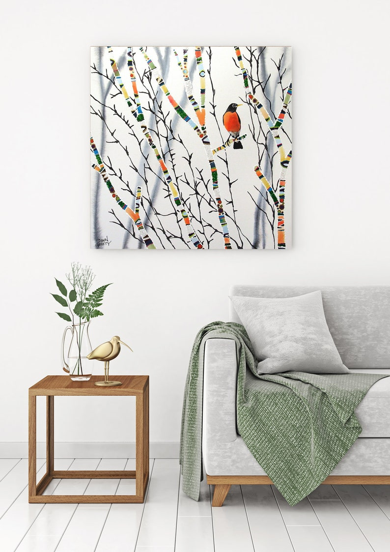 Robin Wildlife Wall Art Top Selling Home Decor Colorful image 0