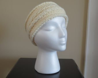 Cream Cable Knit Ear Warmer