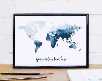 World Map Poster Etsy - A1 world map poster