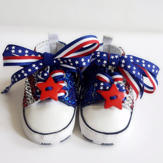 Bedazzled Bling Baby Shoes Patriotic | Etsy