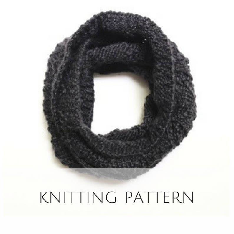 Knit Infinity Scarf Pattern For Women Chunky Lace Cowl Neck Etsy