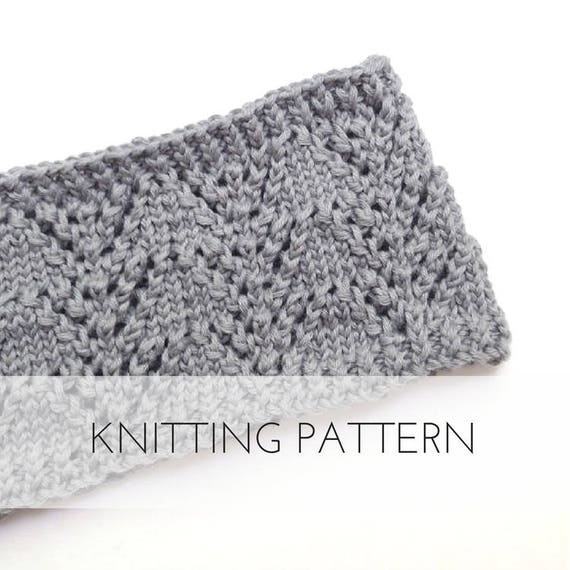 Knitted Baby Lace Headband Pattern Printable Pdf Instant Etsy