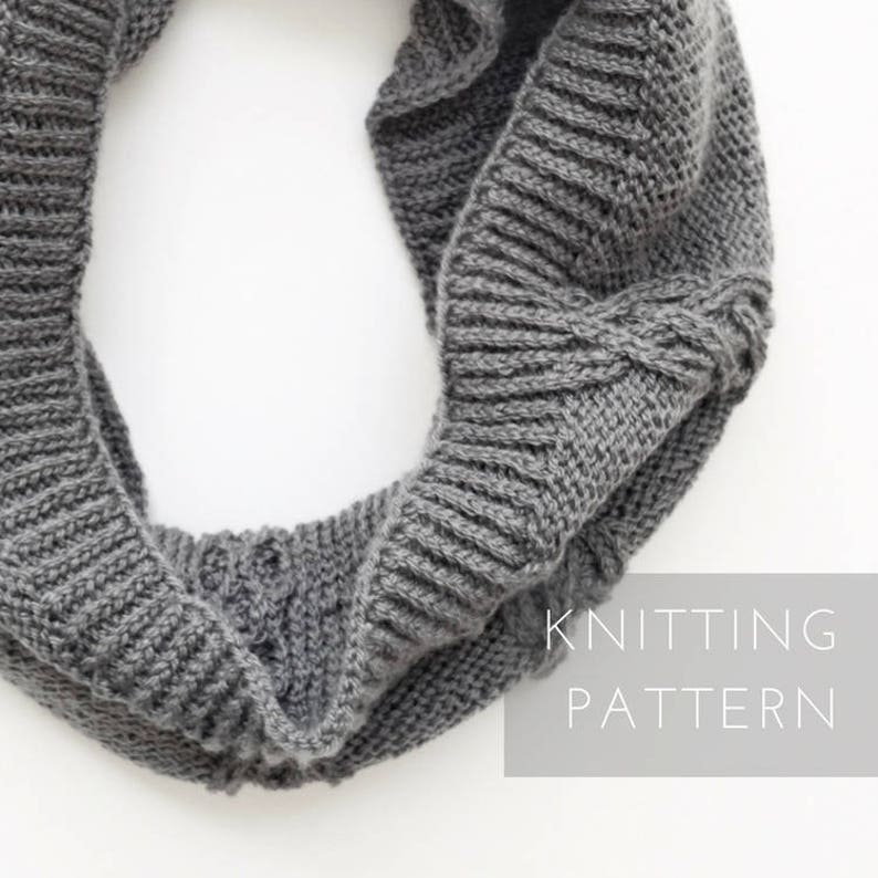 Infinity Scarf Knitting Pattern For Women Instant Download Etsy