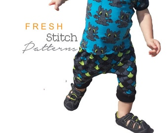 Overlap T-Shirt PDF pattern, Baby Top, Sewing Pattern,  Sizes Preemie to 3T