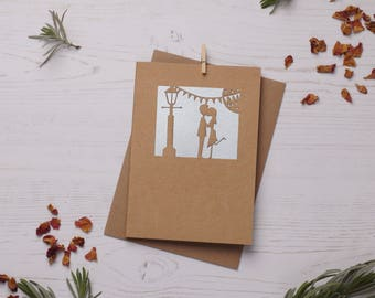 His and Hers Valentine Card. Paper cut card, Card, Valentines Card, Mr and Mrs Card. FREE P&P!