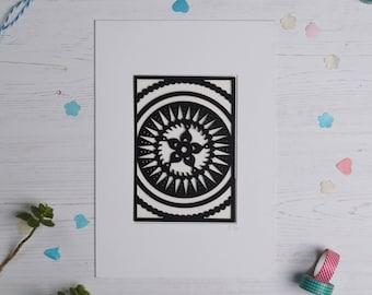 Mandala pattern paper cut 1, Paper cut art, Home decor, Paper cut picture, Mandala picture, Pattern art FREE P&P