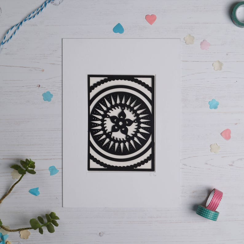 Mandala pattern paper cut 1 Paper cut art Home decor Paper image 0
