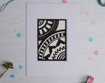 Mandala pattern paper cut 2, Paper cut art, Home decor, Paper cut picture, Mandala picture, Pattern art FREE P&P