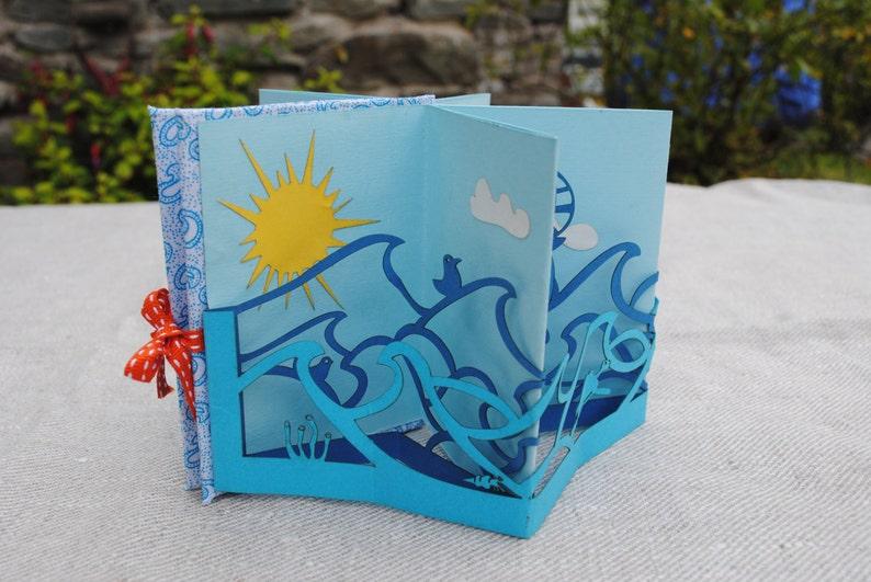 Paper cut book  Little book of the sea. Book image 0