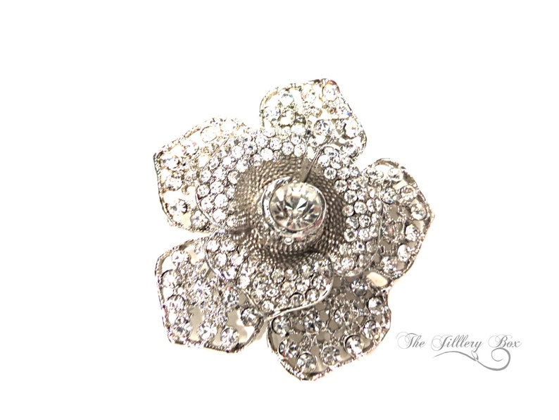 50528db725 Brooch / Vintage Style Brooch / Brooch Wedding Bouquet / Rhinestone Brooch  / Women's Gift Ideas / Brooches / Pin / Bridal Jewelry