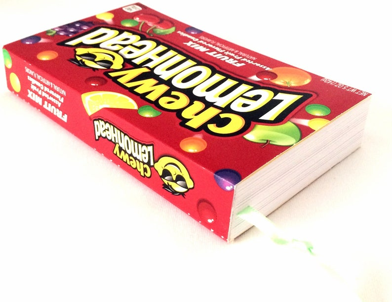 Chewy Lemonhead Recycled Candy Box Journal Or Notebook, Candy Box Diary,  Kawaii Journal, Candy Box Blank Book Notebook, Chewy Lemonhead Box
