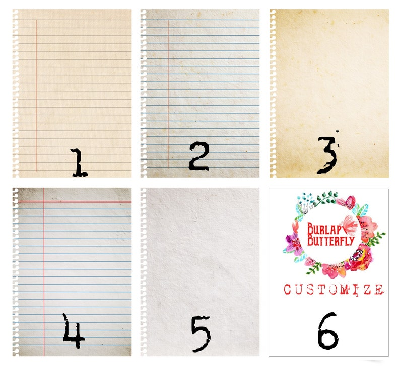 16x20 Vintage Paper Background Large Organizer Dry Erase Rustic Picture Frame Shabby Chic DRY ERASE NOTEPAD
