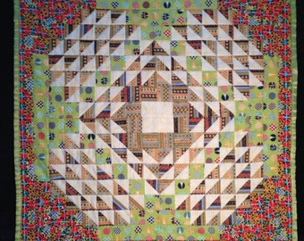 Baby Quilt: in Patchwork Geometric Wave