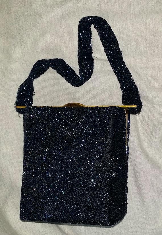 1930s Totally Beaded Box Purse Bag Handbag