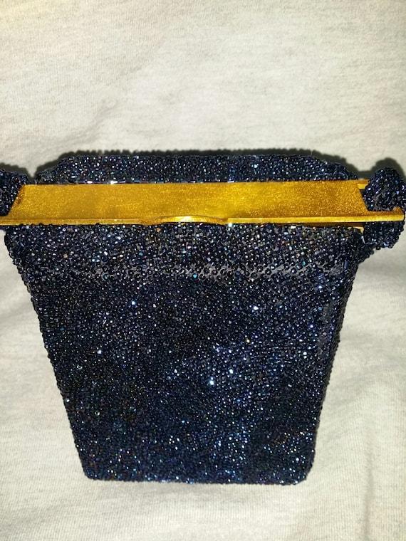 1930s Totally Beaded Box Purse Bag Handbag - image 2