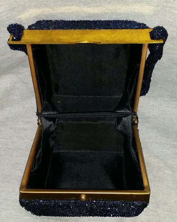 1930s Totally Beaded Box Purse Bag Handbag - image 3