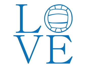 Love Water Polo Sticker / Love Water Polo Decal for Yeti Tumbler / Love Water Polo Car Sticker / Love Sports