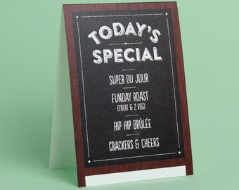 Today's Special - Greetings Card