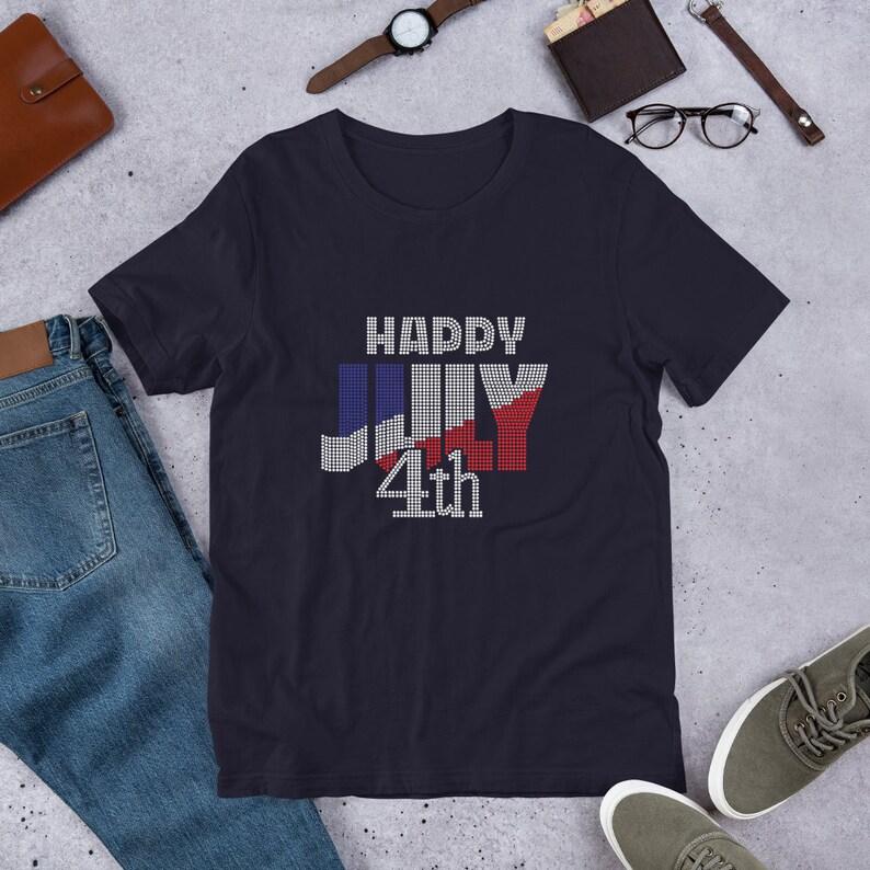 Happy July 4th Rhinestone T-shirt Custom Rhinestone T-Shirt  image 0