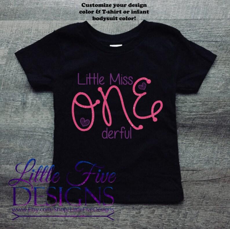 Little Miss ONEderful Birthday Shirt 1st