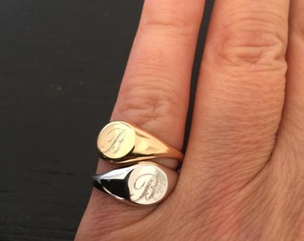 Pinky Signet Ring Etsy