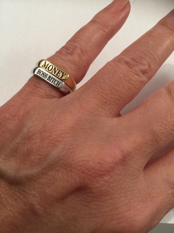 Stackable rings Personalized Ring Monogram letters Pinky ring us size 2 3 4 5 6 7 8 9 10 11 12 13 Engraved ring Initial women