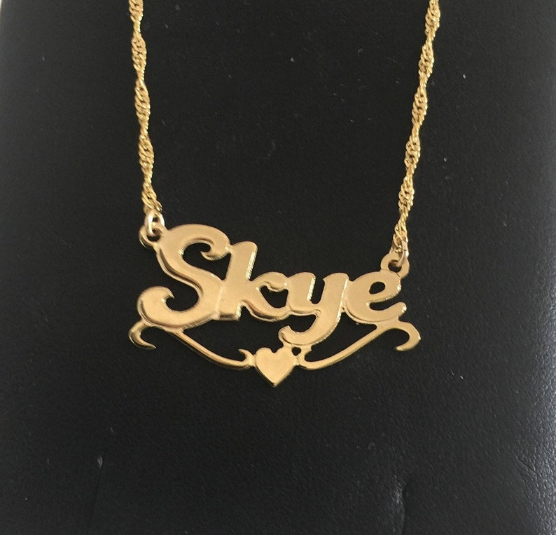 Daughter Gift Personalized Name Necklace Gold Nameplate Font Name Necklac Custom Personalized -Necklace name Any Name