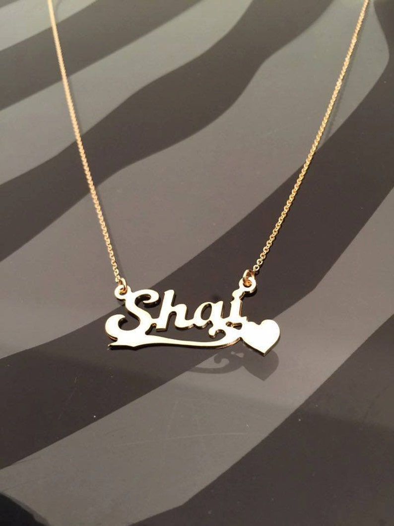Tween Girl Personalized Name Necklace gift for girls Mother Gift personalized necklace Gold Nameplate Daughter Gift Gift for her,