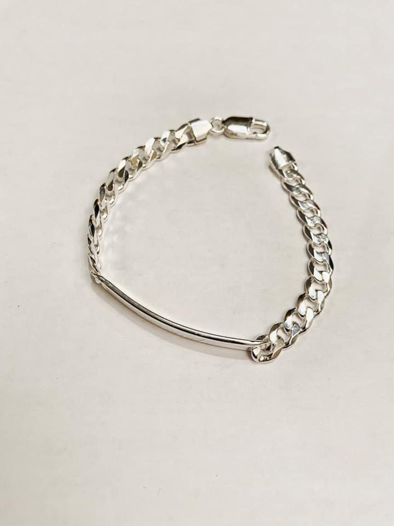 Bracelet for Him Customized Bracelet Engraved bracelet Sterling Silver 925 Personalized Initial Bracelet Bracelet for her Handmade