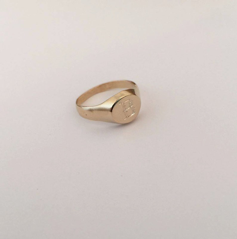 Initial ring personal jewelry Personalized Ring special gifts pinky ring Initial Ring Signet Ring Monogram engrave ring