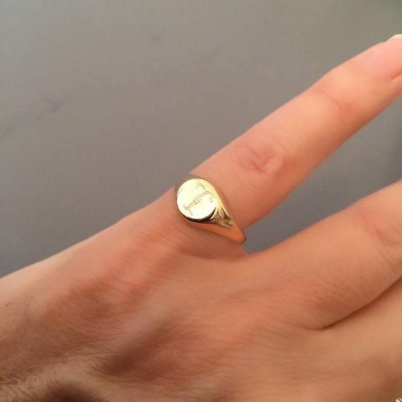 Am kleinen Finger Ring Siegelring gravierte Ring | Etsy