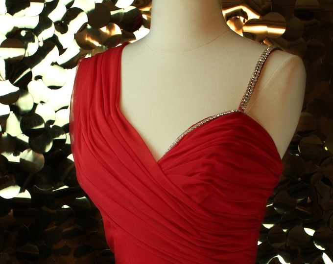 Alyce Designs Red Sweetheart Ballgown