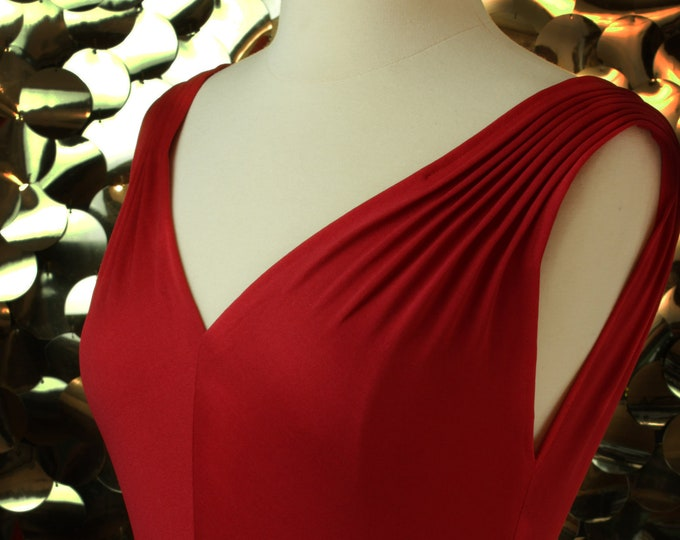 James Daugherty Red Disco Dress
