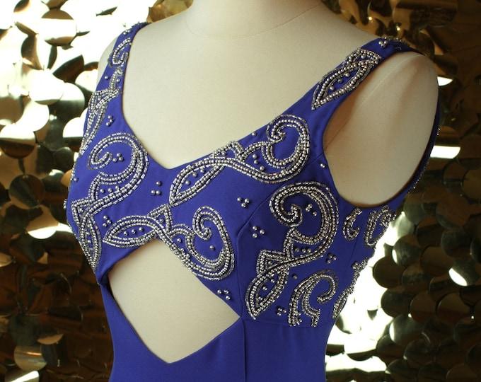 Cornflower Blue Precious Formals Cutout Gown