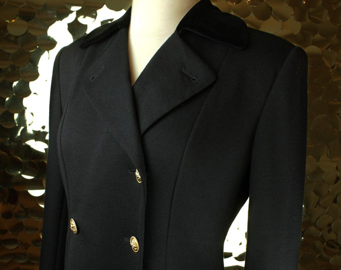 Black Casual Corner Double Breasted Regency Blazer