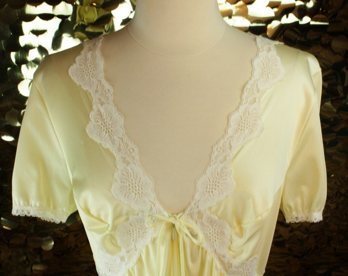 NEW Canary Yellow Vintage Nightgown