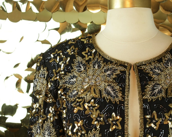Celestial Lawrence Kazar L/S Sequin Jacket