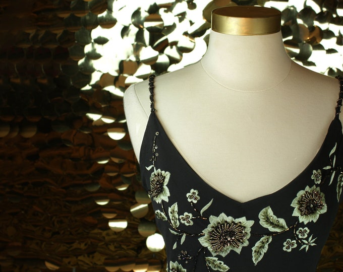 NEW Xscape by Joanna Chen Embroidered Floral Gown